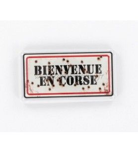 Magnet crystal HD plate welcome to Corsica