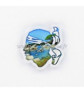 Magnet crystal Head of a Moorish background beach HD 516T