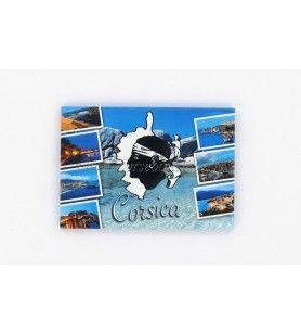 Magnet métal Corse et villes 520T