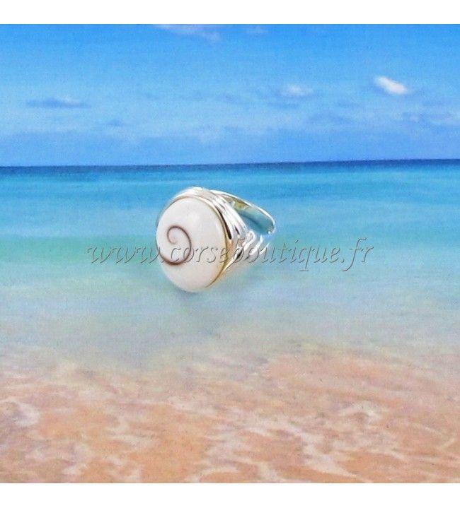 Bague argent Œil de Sainte Lucie ovale anneau fantaisie