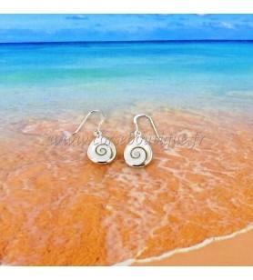 Boucles d'oreilles en argent avec oeil de Sainte Lucie forme goutte