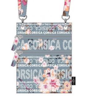 Bolsa de Pasaporte Flores de color azul de fondo