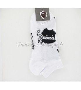 Chaussettes courtes N° 3 blanches Tête de Maure