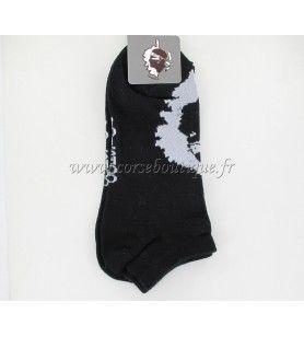 Chaussettes courtes N° 8 noires Carte +Tête de Maure