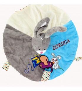Doudou Kaninchen grau neues Modell Korsika