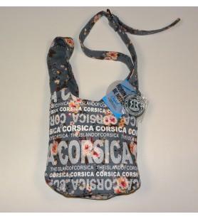 La bolsa de mensajero bolsa de Pequeño Modelo de Flores sobre un fondo azul