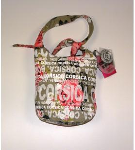 La bolsa de mensajero bolsa de Pequeño Modelo de Flores de color beige de fondo