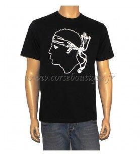 T-Shirt basic-Hoofd van Maure Grote contour