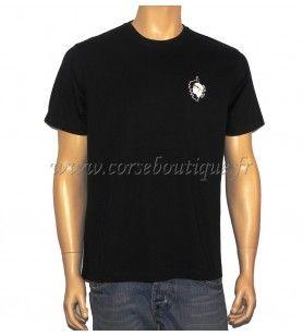 Tarjeta con el logotipo de la camiseta básica y la cabeza de moro 12