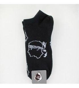 Kurze Socken Nr. 7 schwarzer maurischer Kopf