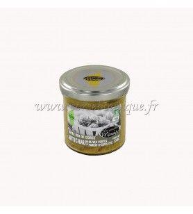 Tapas orgánica de Alcachofa, aceitunas, pimiento de Espelette Minnà 130 Gr  - 1