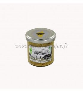 Tapas orgánica de Alcachofa, aceitunas, pimiento de Espelette Minnà 130 Gr