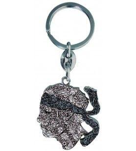 Keychain Head of a Moorish Fantasy  - 1