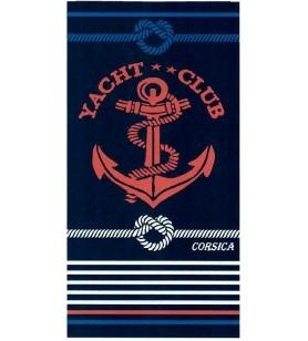 Towel card striped 95x175 cm