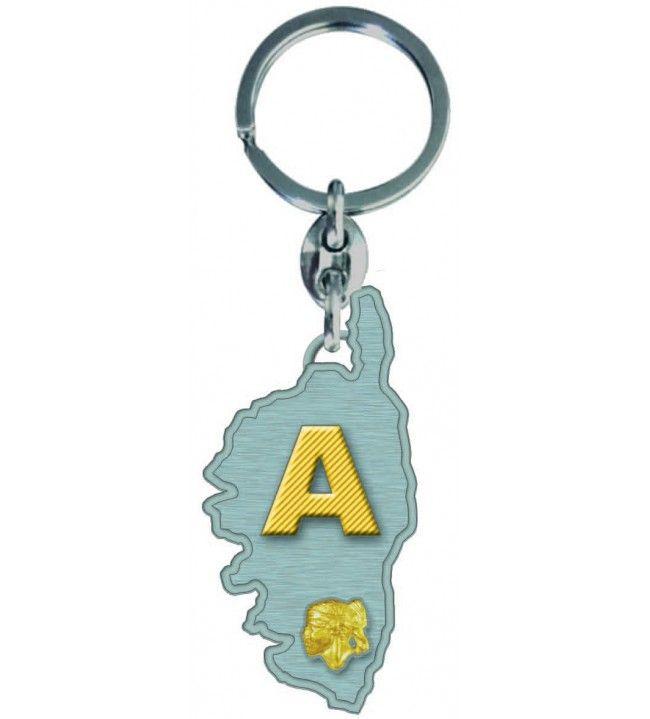 Porta chiave con Carta di Corsica Lettera di Un