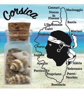 Magnet sand bottle map Corsica