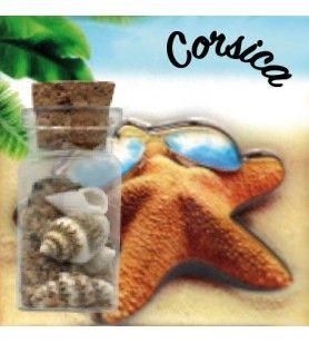 Magnet sable bouteille étoile de mer