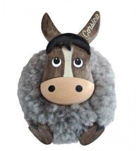 Stuffed donkey magnet  -  Stuffed donkey magnet Diameter 4 Cm