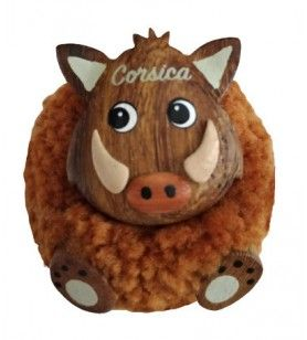 Plush boar magnet
