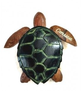 Wooden turtle magnet