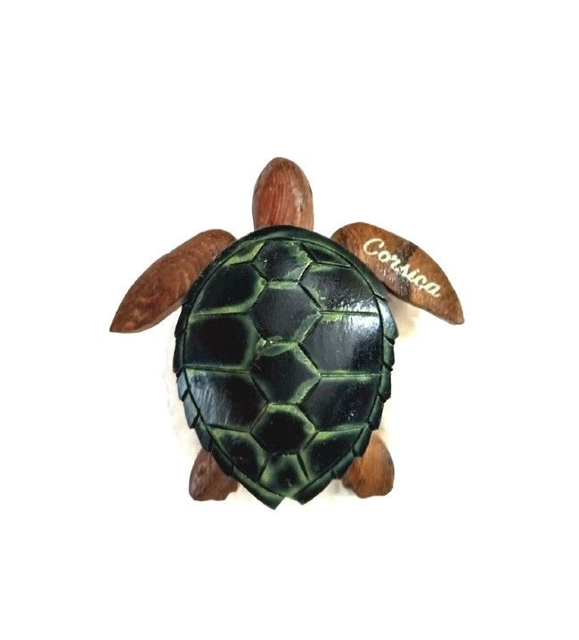 Magnet tortue en bois