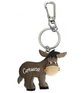 Wooden donkey key ring