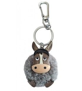 Donkey key ring in plush