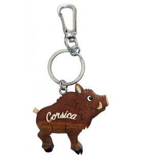 Schlüsselanhänger Holzschwein