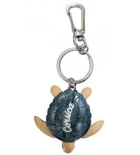 Wooden turtle key ring