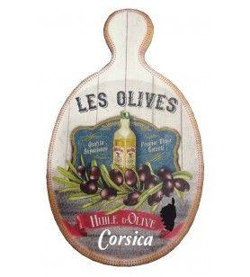 Planche à découper ovale bouteille huile