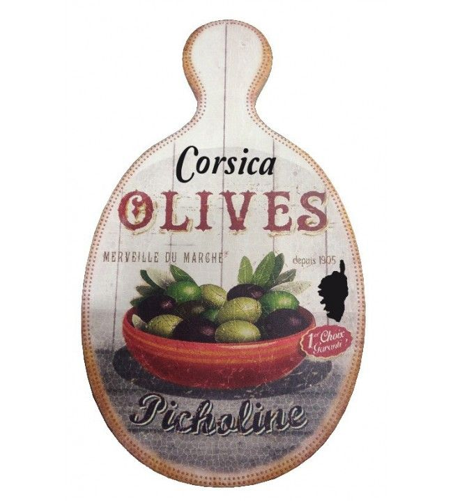 Planche à découper ovale coupelle olives