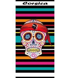Corsica Microfibre towel and fancy skull