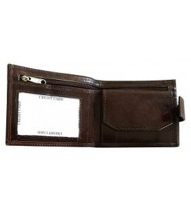 Wallet in goat leather decorated with map and cities of Corsica  - Corsica small leather wallet