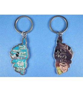 Porte clés métallisé île de Beauté
