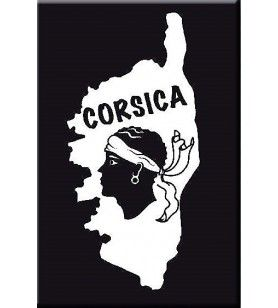 Soft touch magnet Corsica card  - 1