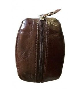 Goat leather wallet  - Leather coin wallet coffee bean card Corsica
