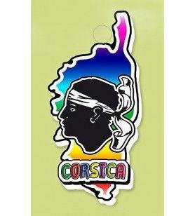Magnete in resina carta Corsica magnete multicolore magnete multi-colore