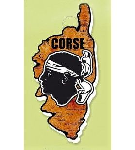 Magneethars kaart Corsica stijl hout