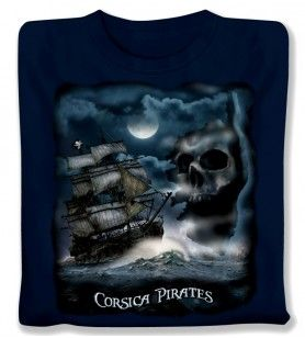 T-shirt Piratenboot kind