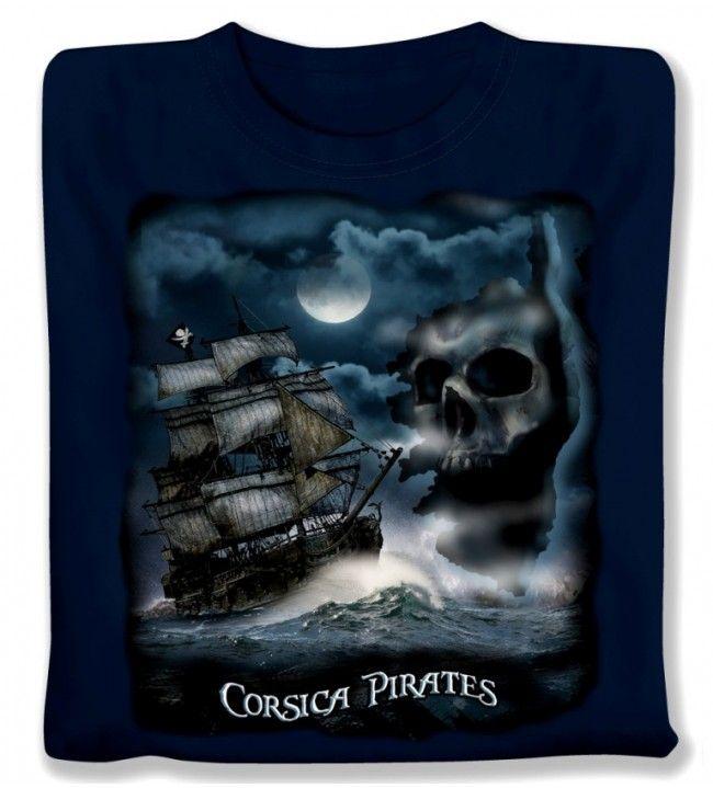 T-shirt Piratenboot kind