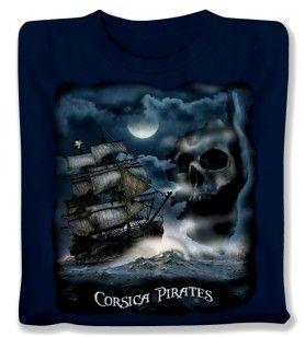 Tee-Shirt Bateau pirate enfant
