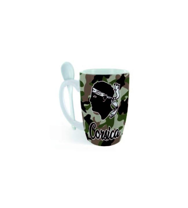 Mug spoon Corsica camouflaged green