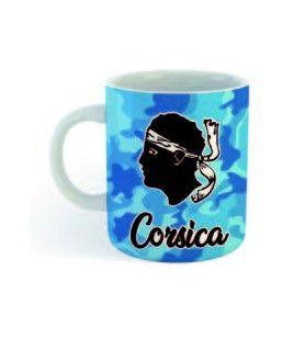 Mini Mug Corsica camouflé bleu  - Mini mug Corsica camouflé bleu