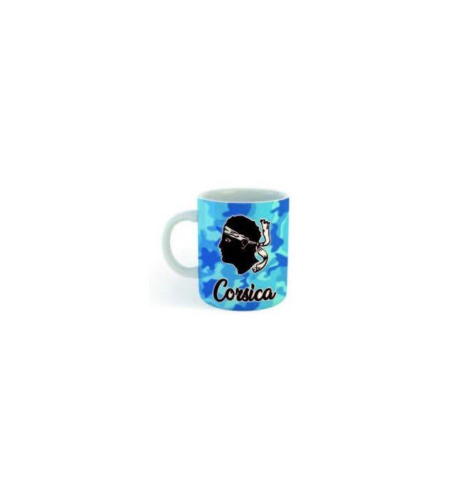 Mini Mug Corsica camouflé bleu