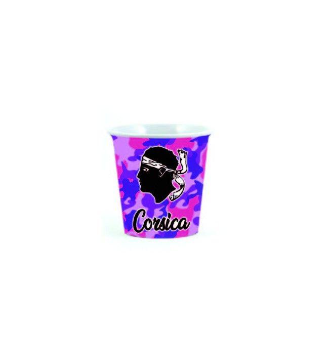 Mini-taza de cerámica estampada