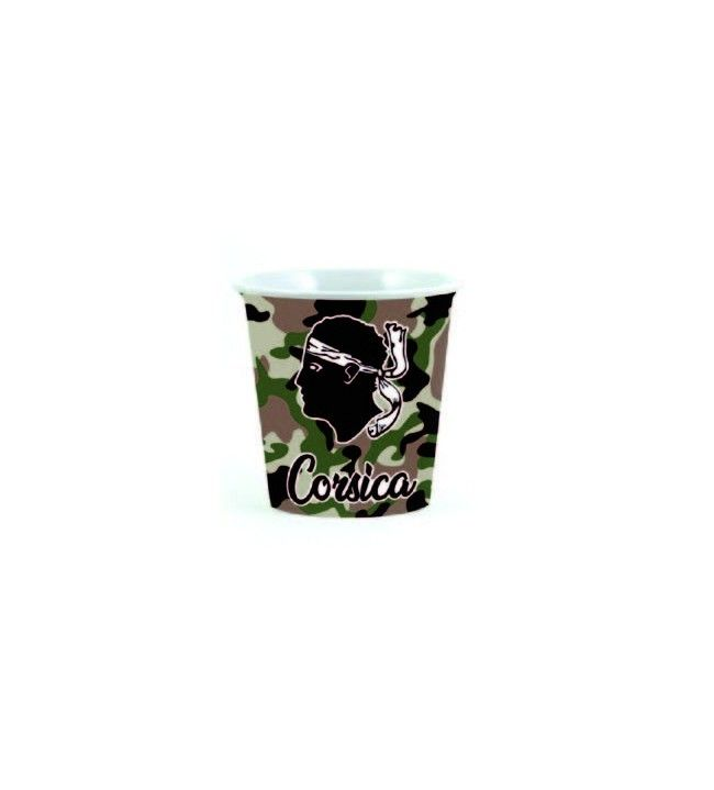 Green camouflaged Corsica mini cup