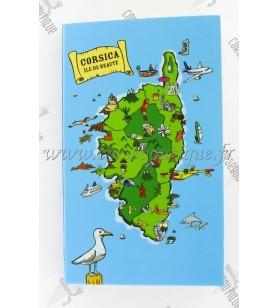 Notizblock – Karte von Korsika