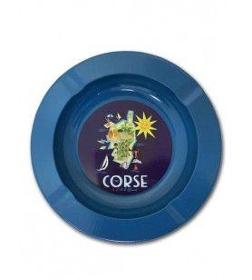 Casa Cendrier Metal Carte Corse  - Casa Cendrier Métal Carte Corse Dimensions : 13,5 cm de diamètre, 2 cm de profondeur.