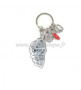Charms key ring card white background