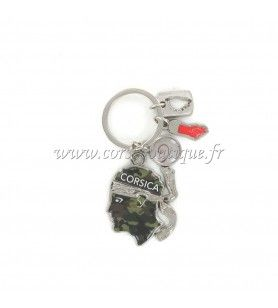 Keyring charms head camouflaged army